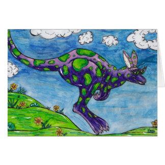 Priscilla the Purple Kangaroo Card