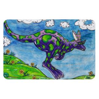 Priscilla the Purple Kangaroo magnet