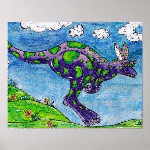 Priscilla the Purple Kangaroo Print.