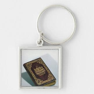 Prise de la Bastille, copy of a book Silver-Colored Square Keychain