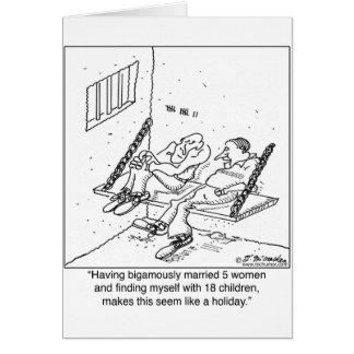Prisión como día de fiesta tarjeta de felicitación