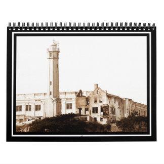 Prisión de Alcatraz (tonos de la sepia) Calendario