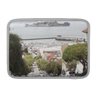 Prisión de Alcatraz vista de San Francisco Funda Para Macbook Air