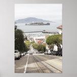 Prisión de Alcatraz vista de San Francisco Póster