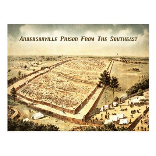 Prisión de Andersonville (campo Sumter), visión aé Tarjetas Postales