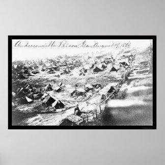 Prisión de Andersonville, GA 1864 Póster