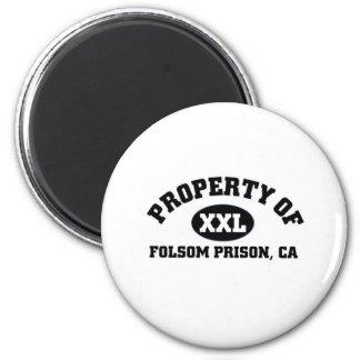 Prisión de Folsom, CA Imán Redondo 5 Cm