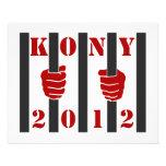 Prisión de José Kony de la parada de Kony 2012 Tarjetas Publicitarias