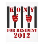 Prisión de José Kony de la parada de Kony 2012 Tarjeton
