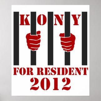 Prisión de José Kony de la parada de Kony 2012 Poster