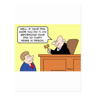 prisión de la frase del juez de la DNA Tarjetas Postales