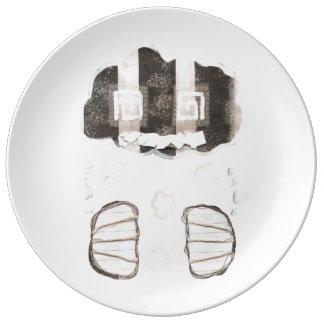Prisión de la nube sin la placa de la porcelana plato de cerámica