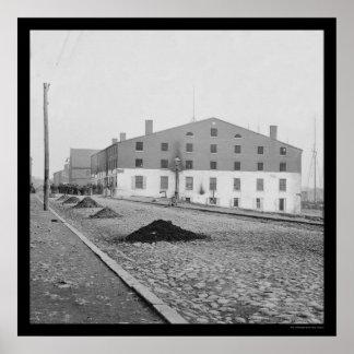 Prisión de Libby en Richmond, VA 1865 Poster