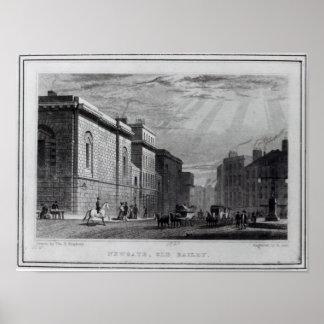 Prisión de Newgate y el viejo Bailey Póster