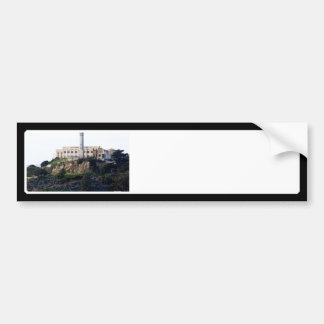 Prisión en la isla de Alcatraz Etiqueta De Parachoque