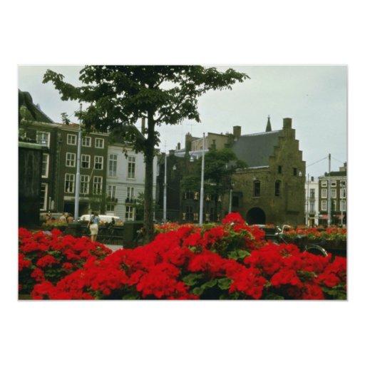 Prisión medieval en las flores de La Haya Invitación 12,7 X 17,8 Cm