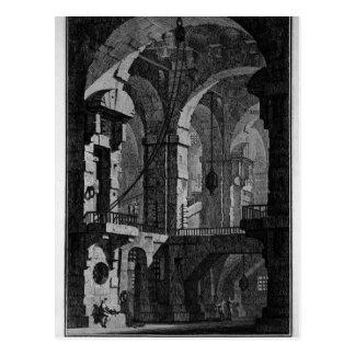 Prisión oscura de la antena de Giovanni Battista Postales