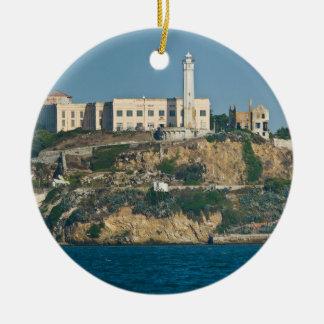Prisión San Francisco Bay de la isla de Alcatraz Adorno Navideño Redondo De Cerámica