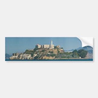Prisión San Francisco Bay de la isla de Alcatraz Etiqueta De Parachoque