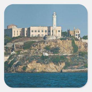Prisión San Francisco Bay de la isla de Alcatraz Pegatina Cuadrada