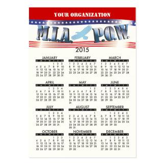 PRISIONERO DE GUERRA 2015 de MIA del calendario de Tarjetas De Visita Grandes