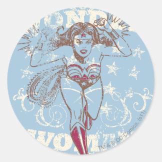 Prisionero de guerra de la Mujer Maravilla Pegatina Redonda