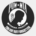 Prisionero de guerra - desaparecido en combate pegatina redonda