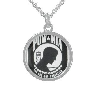 Prisioneros de guerra, desaparecido en combate collar de plata esterlina