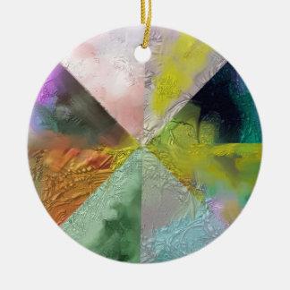 Prism Abstract Design Ceramic Ornament