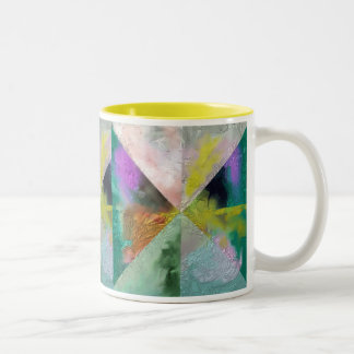 Prism Abstract Design Two-Tone Coffee Mug