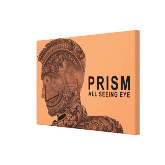 PRISM - All Seeing Eye - Apricot Stretched Canvas Print