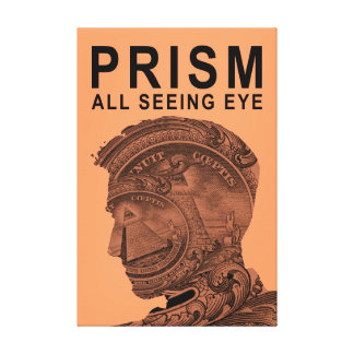 PRISM - All Seeing Eye - Apricot Stretched Canvas Prints