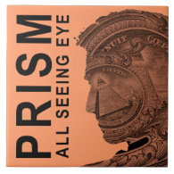 PRISM - All Seeing Eye - Apricot Large Square Tile (<em>$21.95</em>)