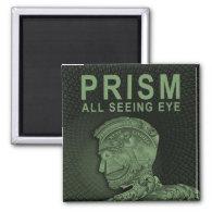 PRISM - All Seeing Eye - Green 2 Inch Square Magnet (<em>$3.85</em>)