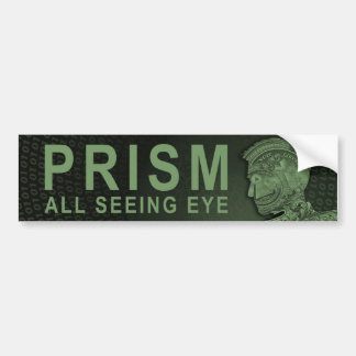 PRISM - All Seeing Eye - Green Bumper Sticker