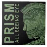PRISM - All Seeing Eye - Green Large Square Tile (<em>$21.95</em>)