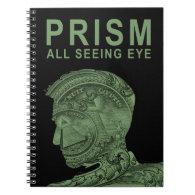 PRISM - All Seeing Eye - Green Notebook (<em>$17.95</em>)