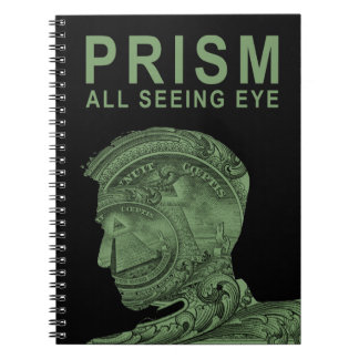 PRISM - All Seeing Eye - Green Spiral Note Book