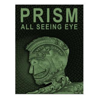 PRISM - All Seeing Eye - Green Postcard