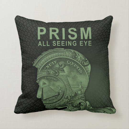 PRISM - All Seeing Eye - Green Throw Pillow