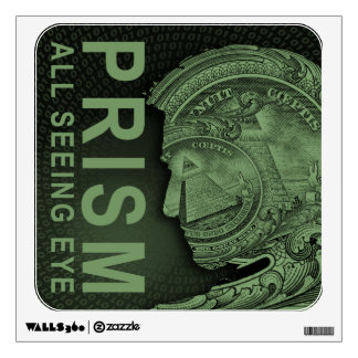PRISM - All Seeing Eye - Green Wall Decal