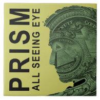 PRISM - All Seeing Eye - Lime Large Square Tile (<em>$21.95</em>)