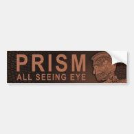 PRISM - All Seeing Eye - Orange Bumper Sticker (<em>$4.45</em>)