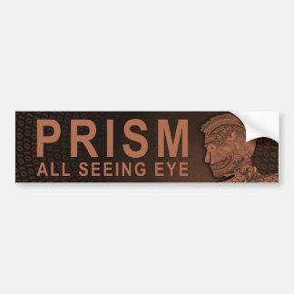 PRISM - All Seeing Eye - Orange Bumper Sticker