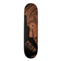 PRISM - All Seeing Eye - Orange Custom Skateboard (<em>$191.95</em>)
