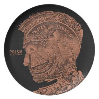 PRISM - All Seeing Eye- Orange Dinner Plate