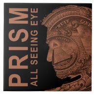 PRISM - All Seeing Eye- Orange Large Square Tile (<em>$21.95</em>)