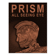 PRISM - All Seeing Eye - Orange Postcard (<em>$1.30</em>)