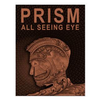 PRISM - All Seeing Eye - Orange Postcard
