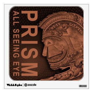 PRISM - All Seeing Eye - Orange Wall Sticker
